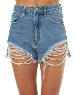 SALTY BLUE WOMENS CLOTHING A.BRAND SHORTS - 70056SBLU