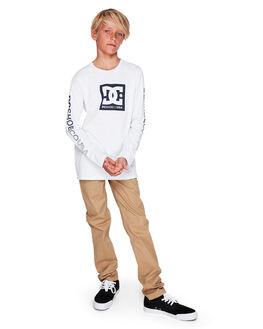 SNOW WHITE KIDS BOYS DC SHOES TOPS - UDBZT03216-WBB0
