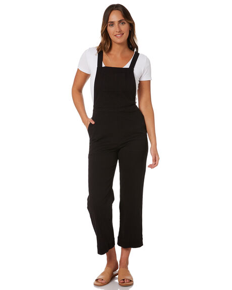 BLACK WOMENS CLOTHING RUSTY PLAYSUITS + OVERALLS - MCL0353-BLK