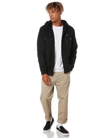 BLACK MENS CLOTHING HURLEY JACKETS - MJK0002540H010