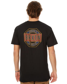 BLACK MENS CLOTHING BRIXTON TEES - 06520BLK