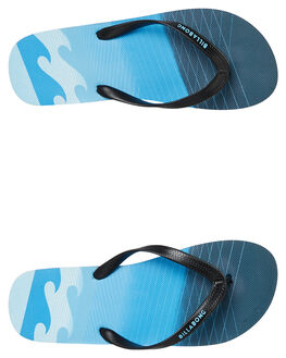 BLACK BLUE MENS FOOTWEAR BILLABONG THONGS - 9695945BKBLU