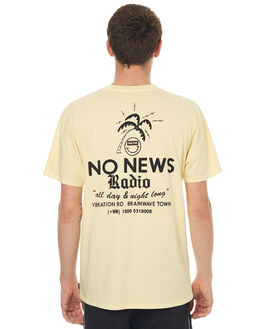 WASHED YELLOW OUTLET MENS NO NEWS TEES - N5171002WSHYE