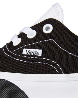 BLACK WHITE KIDS BOYS VANS FOOTWEAR - VNA38EBVIGBLKW
