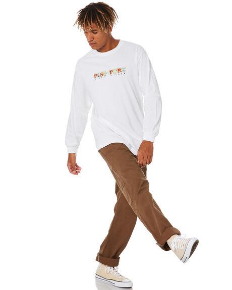 WHITE MENS CLOTHING PASS PORT TEES - PPGANGLSTWHT