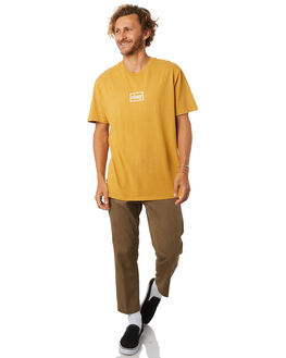 DUSTY GOLD MENS CLOTHING OBEY TEES - 166721657DGLD