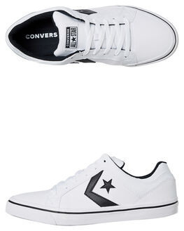 WHITE BLACK MENS FOOTWEAR CONVERSE SNEAKERS - 158427WHI