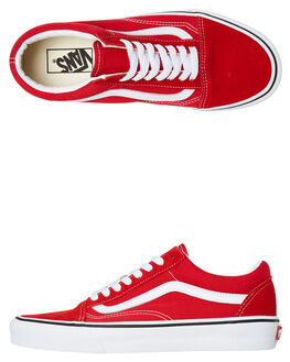 RACING RED WOMENS FOOTWEAR VANS SNEAKERS - SSVNA4BV5JV6W