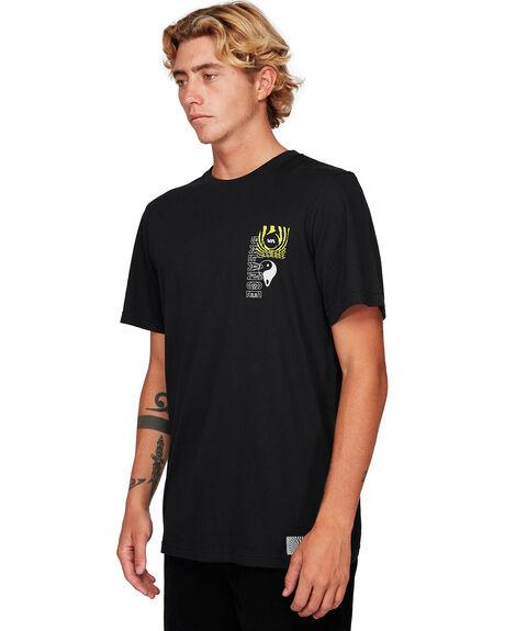 BLACK MENS CLOTHING RVCA TEES - RV-R192060-BLK