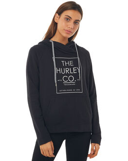 BLACK WOMENS CLOTHING HURLEY JUMPERS - AGFLMINL00A