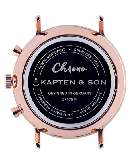 ALL BLACK CROCO MENS ACCESSORIES KAPTEN AND SON WATCHES - KS-CD00B0399F01ABLKC