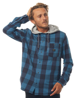 REAL TEAL MOTHERFLY MENS CLOTHING QUIKSILVER SHIRTS - EQYWT03657BPR1