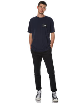 WASHED NAVY MENS CLOTHING STUSSY TEES - ST076004WNVY