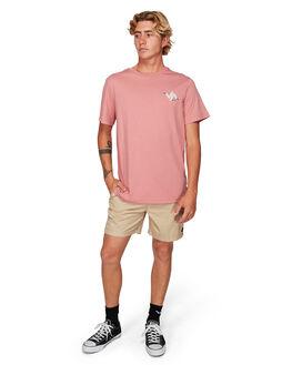 DUSTY ROSE MENS CLOTHING RVCA TEES - RV-R192055-DU4