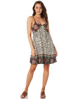 LEOPARD PATCHWORK WOMENS CLOTHING O'NEILL DRESSES - 5721603LEO