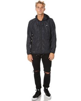 BLACK MENS CLOTHING RVCA JACKETS - R371435BLK