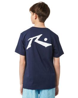 NAVY BLUE KIDS BOYS RUSTY TEES - TTB0604NVB