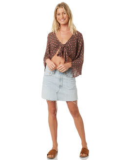 BLUSH WOMENS CLOTHING BAND OF GYPSIES FASHION TOPS - WR324781-2770LBLUS