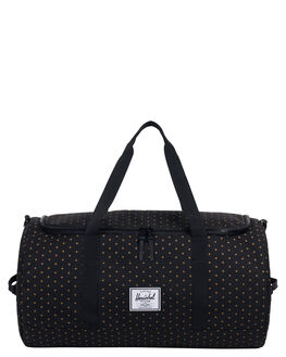 BLACK GRIDLOCK GOLD MENS ACCESSORIES HERSCHEL SUPPLY CO BAGS + BACKPACKS - 10348-02097-OSBKGRI