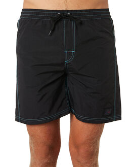 BLACK MENS CLOTHING RUSTY BOARDSHORTS - BSM1375BLK