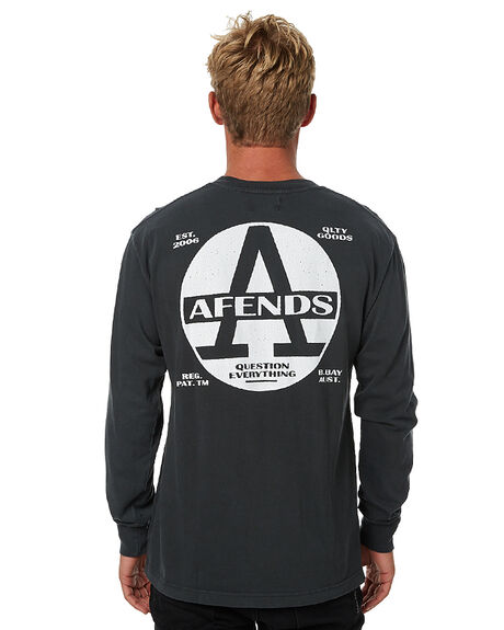 FADED BLACK MENS CLOTHING AFENDS TEES - 02-02-090FBLK