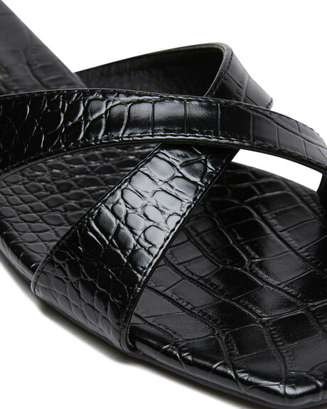 BLACK CROC WOMENS FOOTWEAR BILLINI FASHION SANDALS - S699BLKCRC