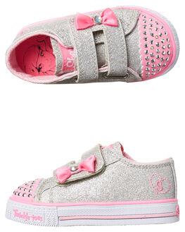 SILVER PINK KIDS TODDLER GIRLS SKECHERS FOOTWEAR - 10729NSLPK