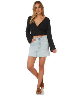 BLACK WOMENS CLOTHING ALL ABOUT EVE FASHION TOPS - 6423031BLK