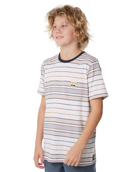 WHITE KIDS BOYS BILLABONG TEES - 8572038WHT