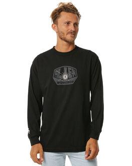 BLACK MENS CLOTHING ALIEN WORKSHOP TEES - OGLSBLK