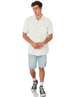 WHITE MENS CLOTHING RUSTY SHIRTS - WSM0927WHT