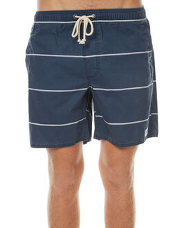 NAVY STRIPE MENS CLOTHING AFENDS BOARDSHORTS - 09-04-138NVY