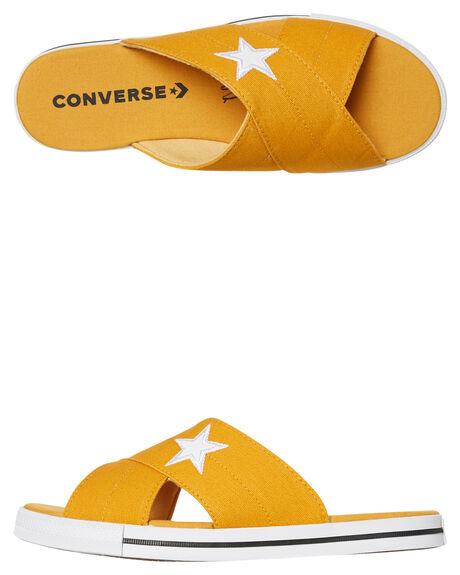 SUNFLOWER WOMENS FOOTWEAR CONVERSE SLIDES - 565529CSFLWR