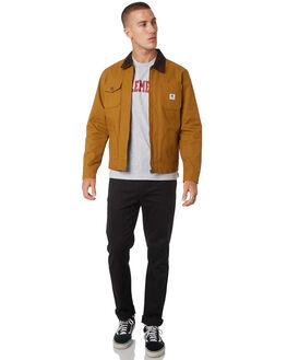 GOLD BROWN MENS CLOTHING ELEMENT JACKETS - 183457GLDBR