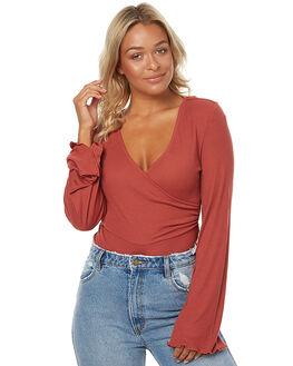 CRIMSON RED WOMENS CLOTHING SOMEDAYS LOVIN FASHION TOPS - SL1609050RED