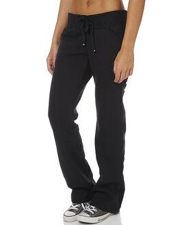BLACK WHITE WOMENS CLOTHING HURLEY PANTS - AGPTOO1700A10