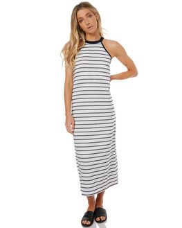 WHITE NAVY STRIPE WOMENS CLOTHING THE FIFTH LABEL DRESSES - TJ170210DSTWHTNV