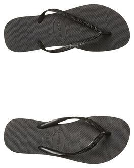 BLACK WOMENS FOOTWEAR HAVAIANAS THONGS - HSBS0090BLK