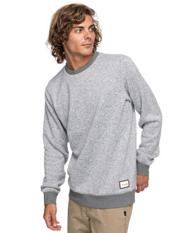 LIGHT GREY HEATHER MENS CLOTHING QUIKSILVER JUMPERS - EQYFT03773SJSH