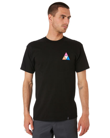 BLAC MENS CLOTHING HUF TEES - TS00908-BLACK