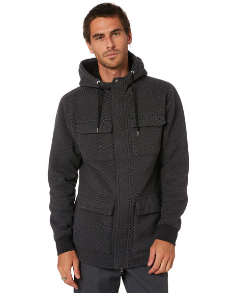 BLACK MENS CLOTHING VOLCOM JACKETS - A5812000BLK