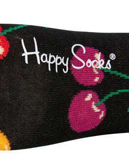 BLACK MULTI WOMENS CLOTHING HAPPY SOCKS SOCKS + UNDERWEAR - CHE01-9002MTL