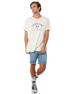 GLACIER WHITE OUTLET MENS CATCH SURF TEES - A7TEE018GWHT