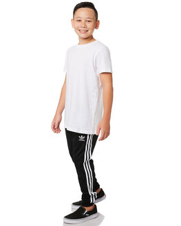 BLACK WHITE KIDS BOYS ADIDAS PANTS - DV2879BLKWH