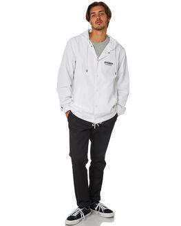 WHITE MENS CLOTHING STUSSY JACKETS - ST095501WHT