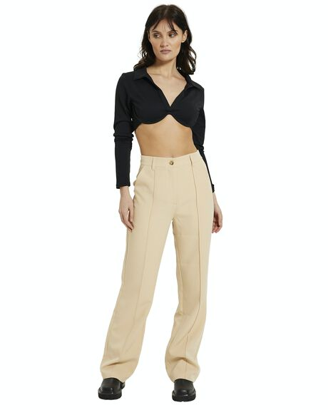 BLACK WOMENS CLOTHING ALICE IN THE EVE FASHION TOPS - 38972500023