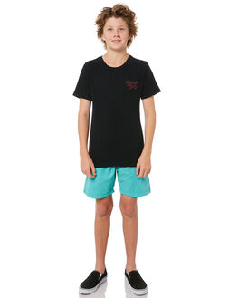 BLACK KIDS BOYS RIP CURL TEES - KTEMU20090