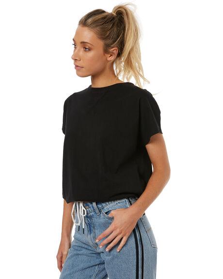 BLACK WOMENS CLOTHING RUSTY TEES - FSL0531BLK