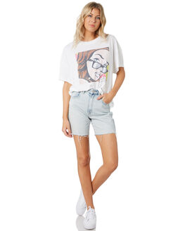 WHITE WOMENS CLOTHING A.BRAND TEES - 71741WHI