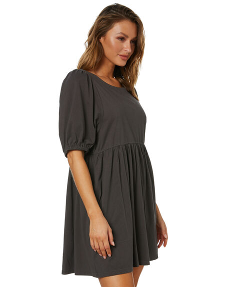 WASHED BLACK WOMENS CLOTHING SWELL DRESSES - S8213442WBLK